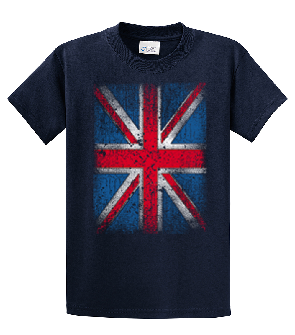 British flag t shirt distressed flag design ebay for How to make a distressed shirt
