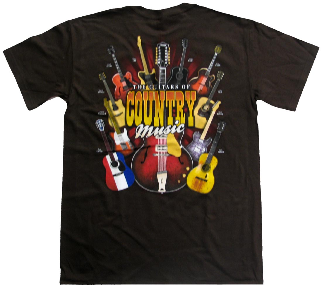Guitars-of-Country-Music-Legends-Adult-T-Shirt