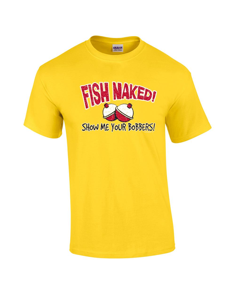 fish naked t shirts