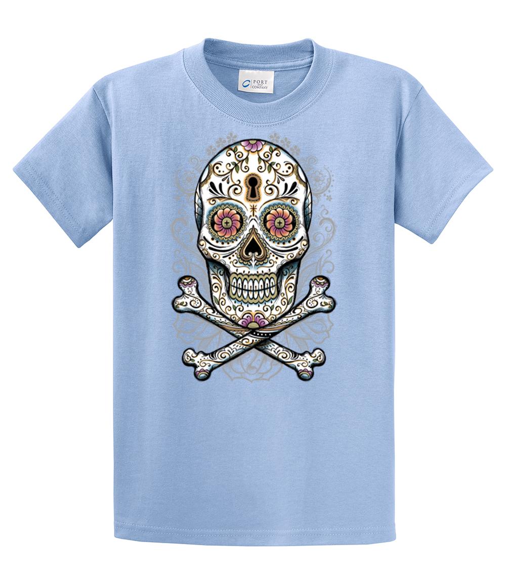 Floral Skull T Shirt Design Ebay