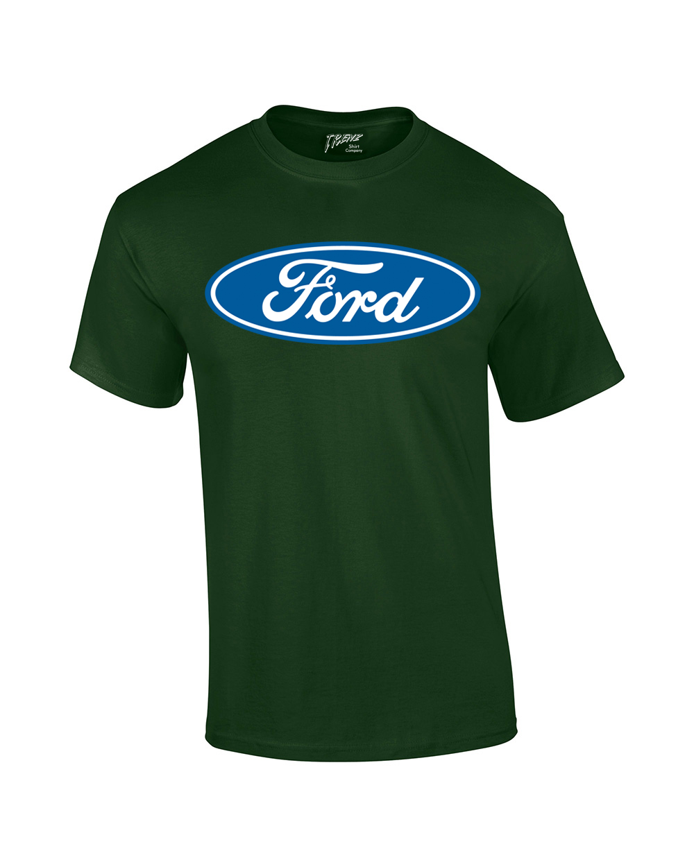 Design t shirt blue cotton - Ford T Shirt Blue Ford Logo Oval Design