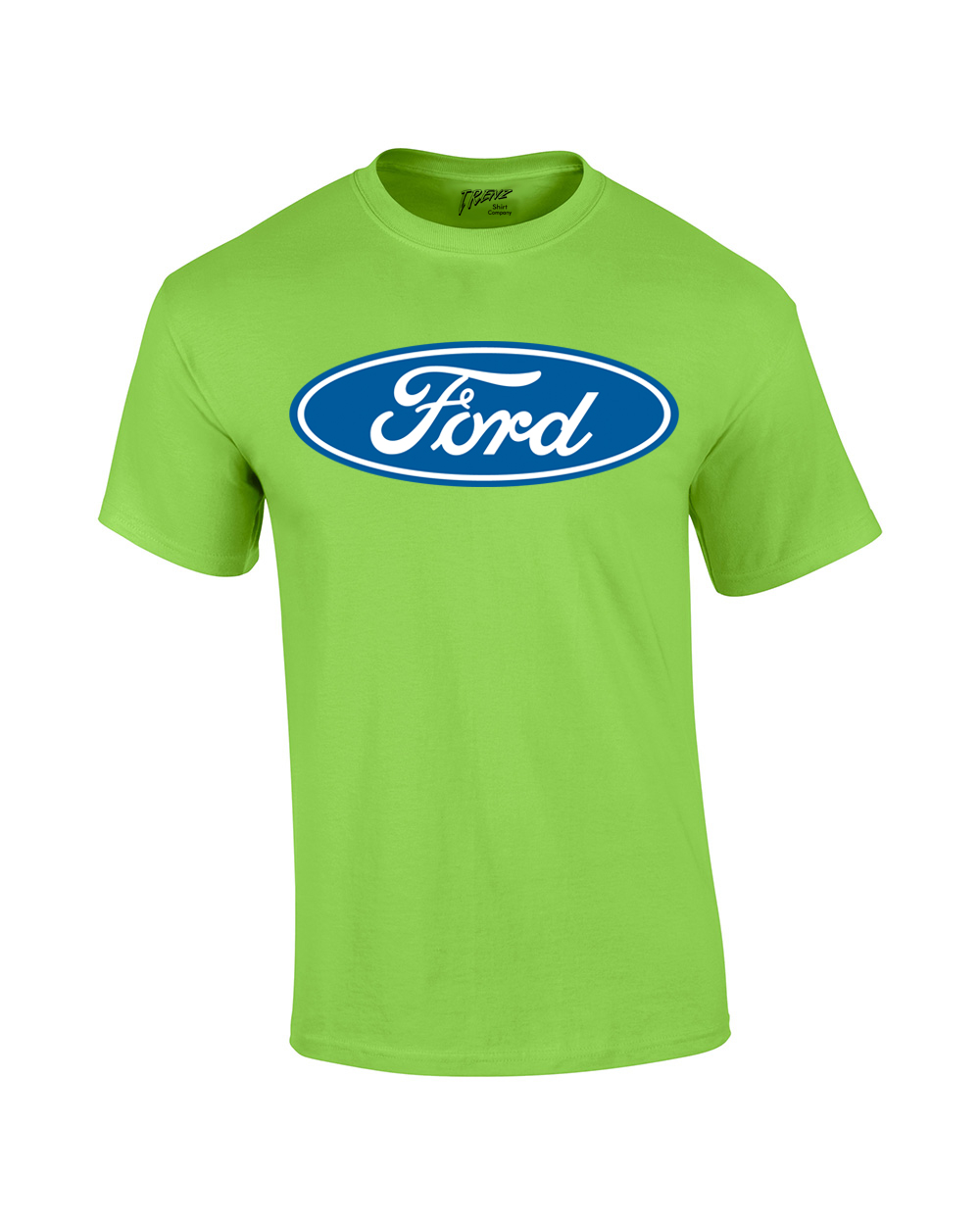 ford t shirt blue ford logo oval design ebay. Black Bedroom Furniture Sets. Home Design Ideas