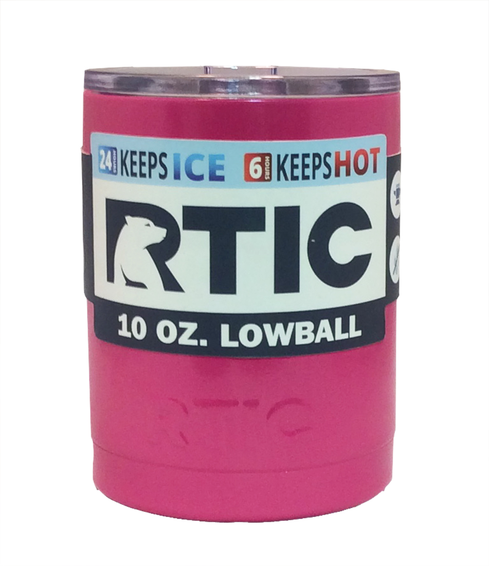 Rtic Powder Coated 10 Oz Lowball Tumbler With Lid Bundle
