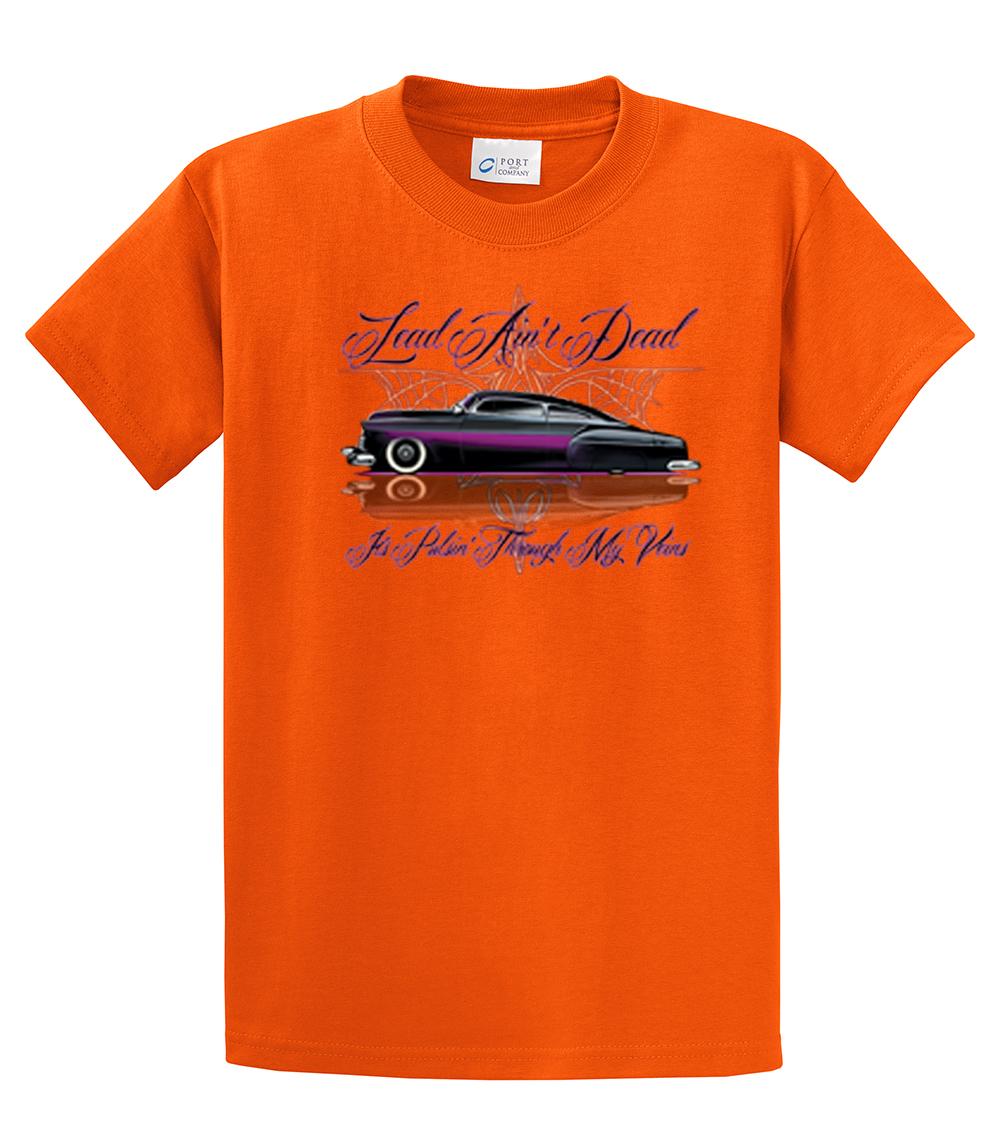 Hot rod t shirt lead sled lead ain 39 t dead ebay for Custom dog face t shirt