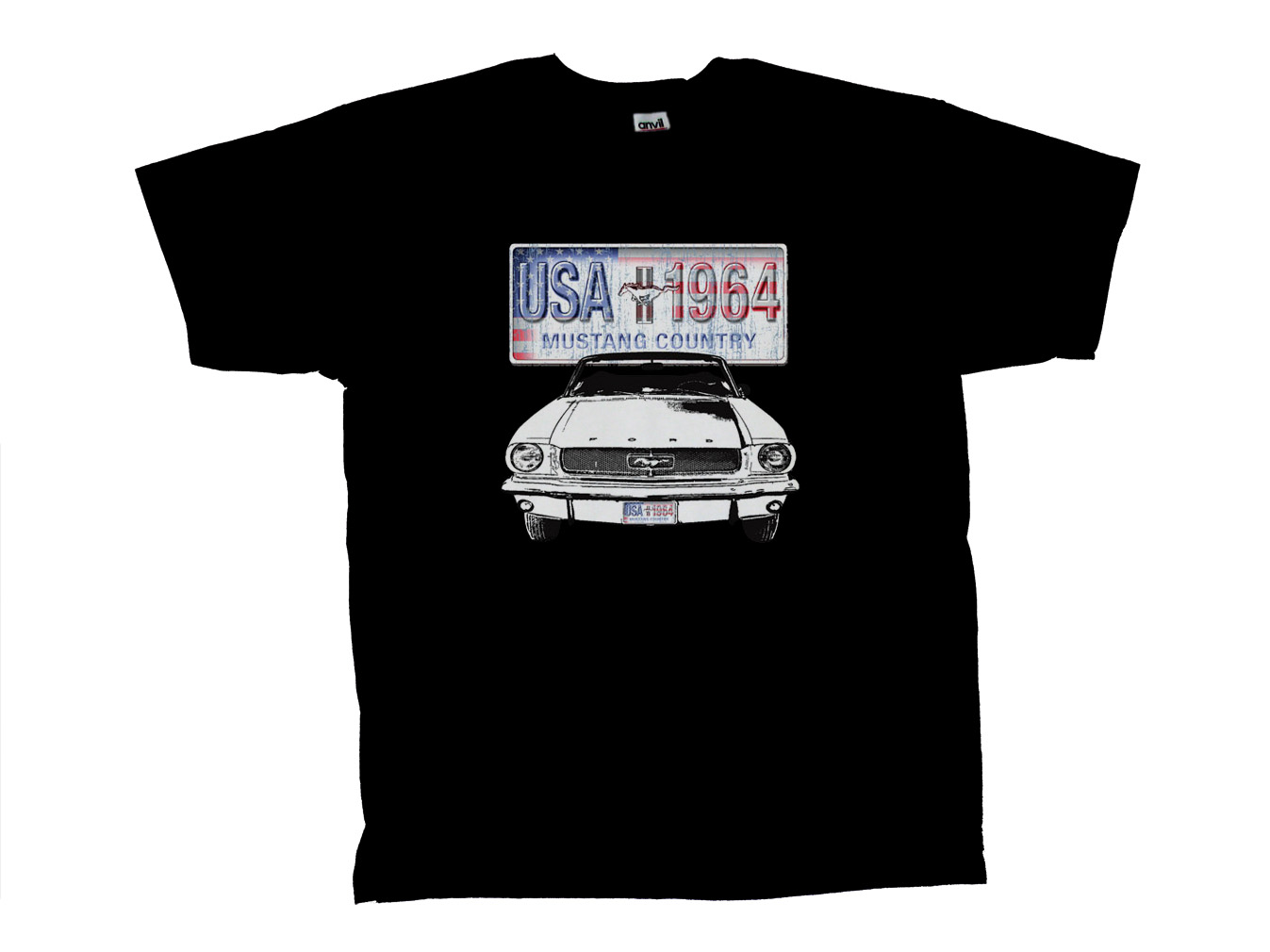 Ford mustang country license plate t shirt ebay for T shirt licensing agreement