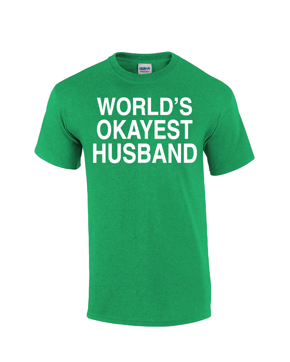 World 39 s okayest husband t shirt funny marriage t shirt ebay for Funny getting married shirts