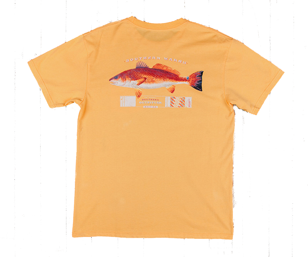 Southern marsh redfish outfitter t shirt ebay for Southern marsh dress shirts on sale