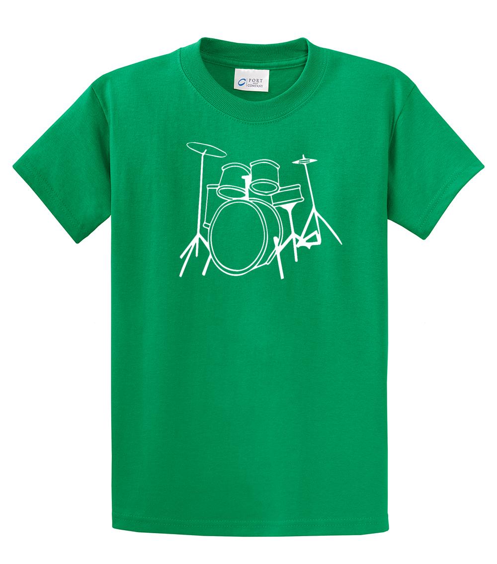 Youth Drumming T Shirt Drumset Design Ebay