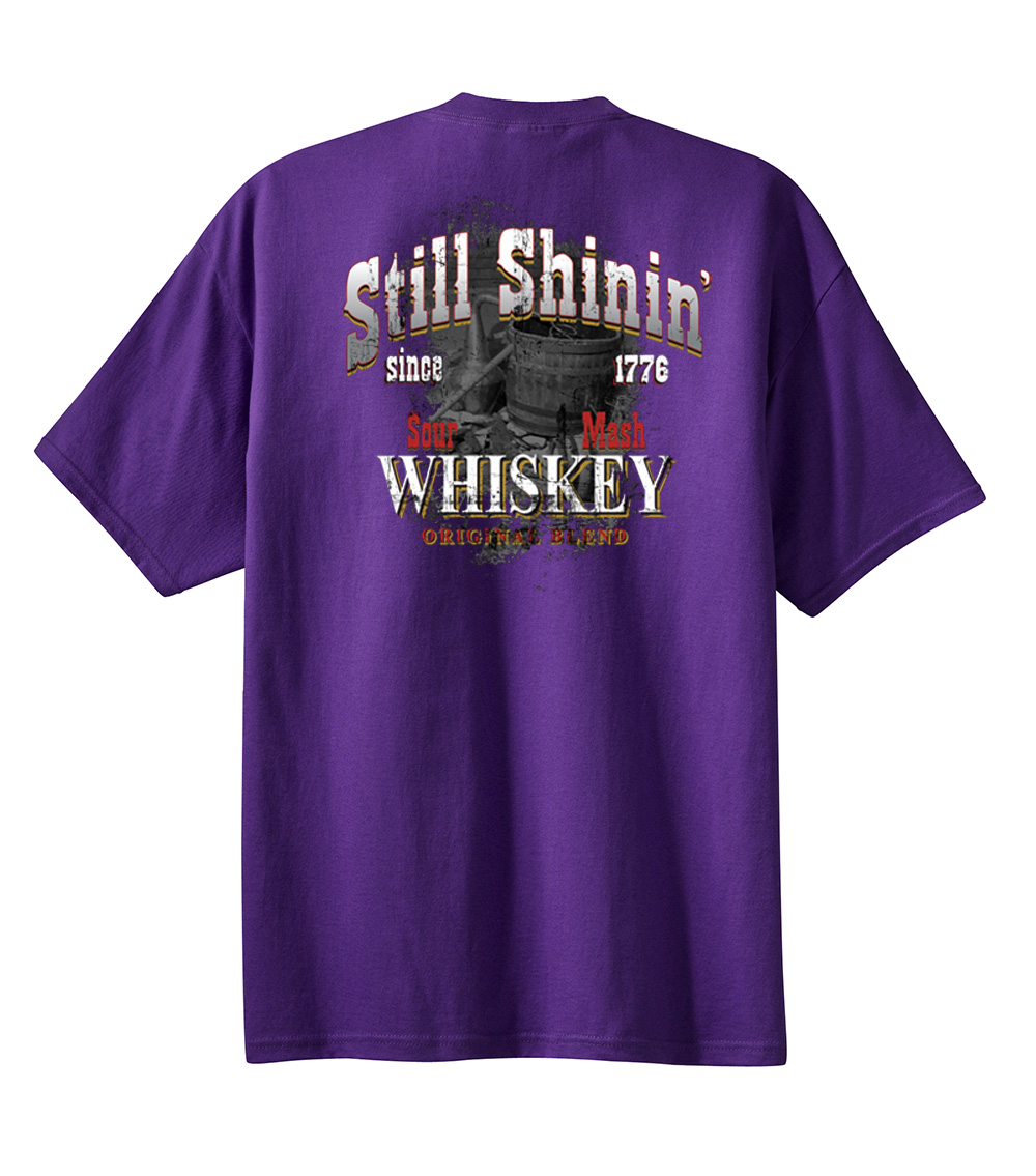 moonshine t shirt still stinin 39 whiskey orignal blend since 1776 ebay. Black Bedroom Furniture Sets. Home Design Ideas