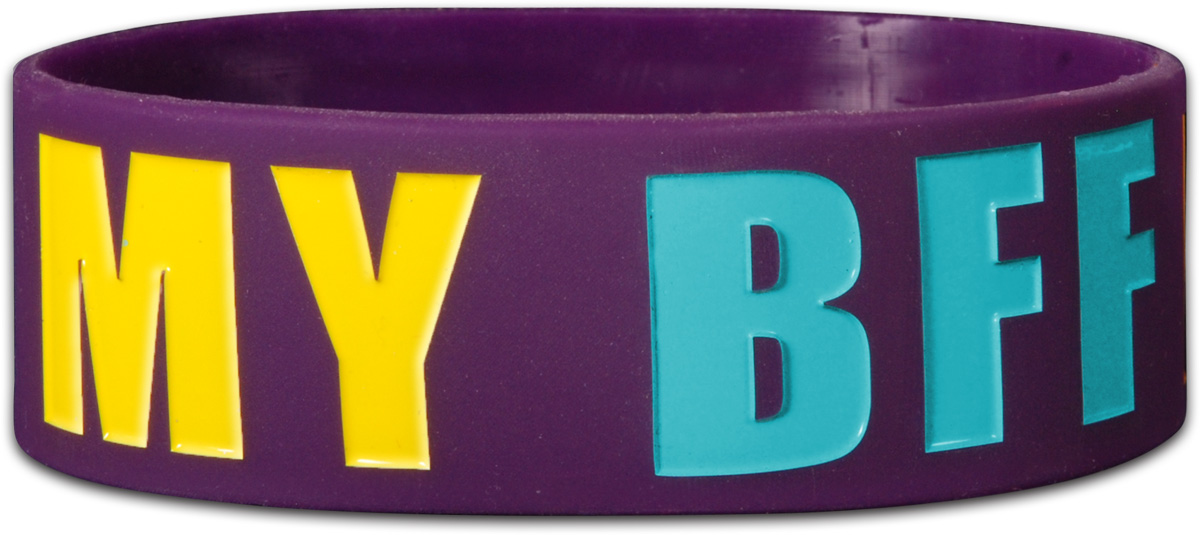 Trenz Shirt Company Christian Jesus is My BFF - Wide Silicone Bracelet at Sears.com
