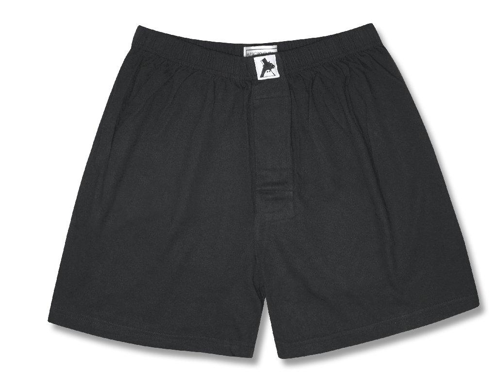 Biagio Men's Solid BLACK Color BOXER 100% Knit Cotton Sho...