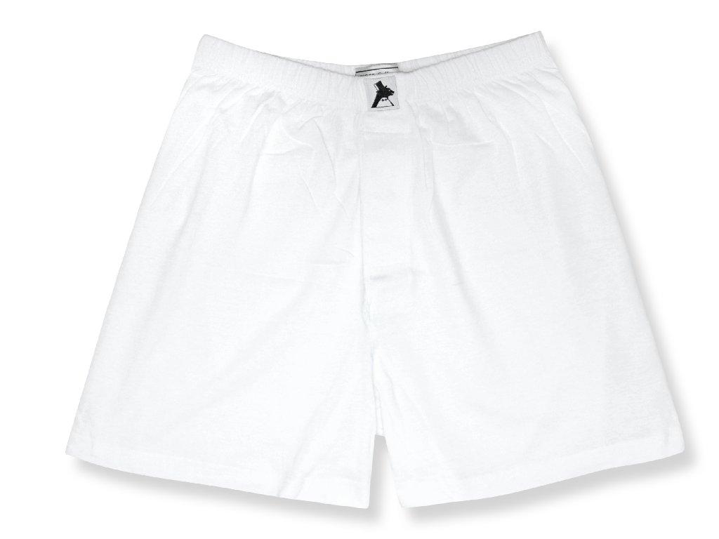 Biagio Men's Solid WHITE Color BOXER 100% Knit Cotton Sho...