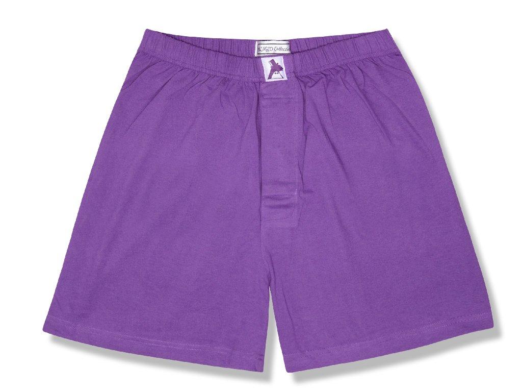 Biagio Men's Solid PURPLE INDIGO Color BOXER 100% Knit Co...