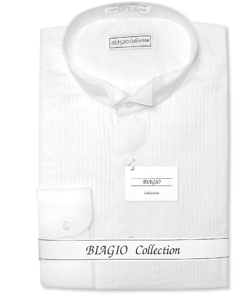 Biagio Men's 100% COTTON Solid White Color TUXEDO Dress S...