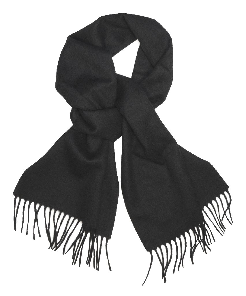 Biagio 100% Wool NECK Scarf Solid BLACK Color Scarve for ...