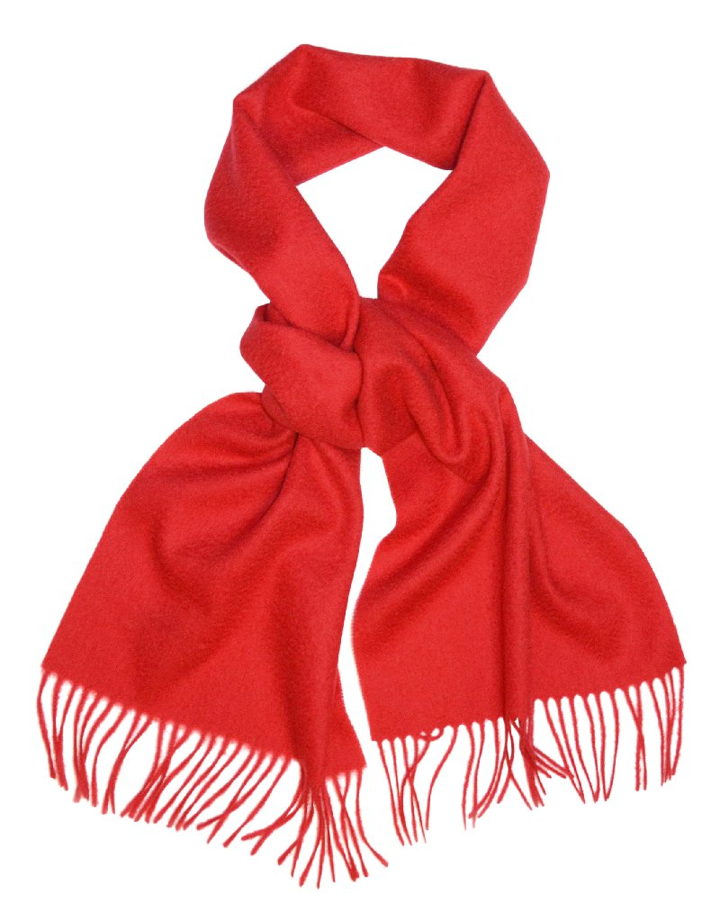 Biagio 100% Wool NECK Scarf Solid RED Color Scarve for Me...