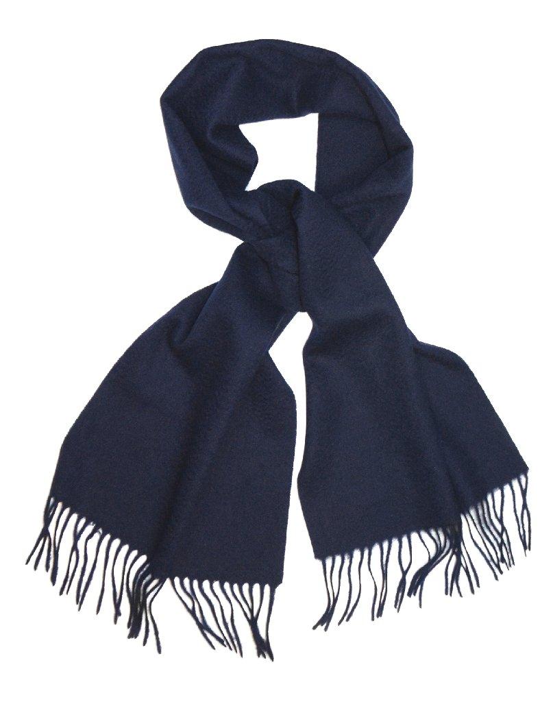 Biagio 100% Wool NECK Scarf Solid NAVY BLUE Color Scarve ...