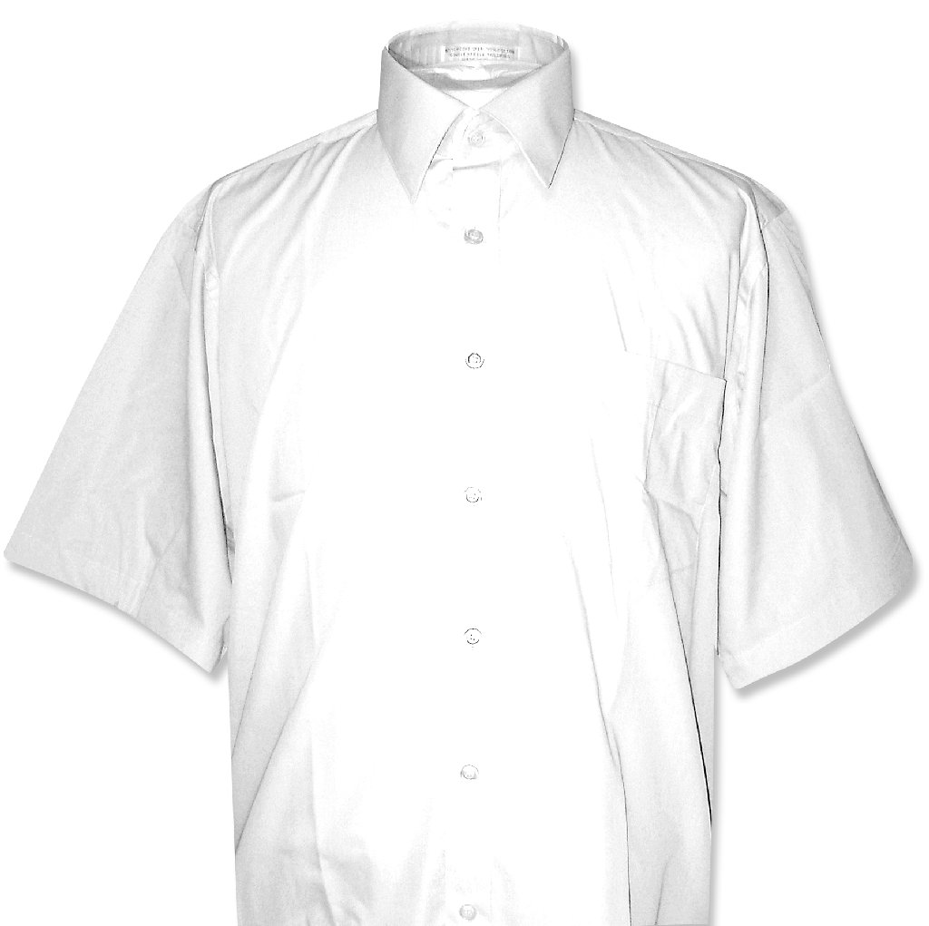 Covona Men's Short Sleeve Solid White Color Dress Shirt s...