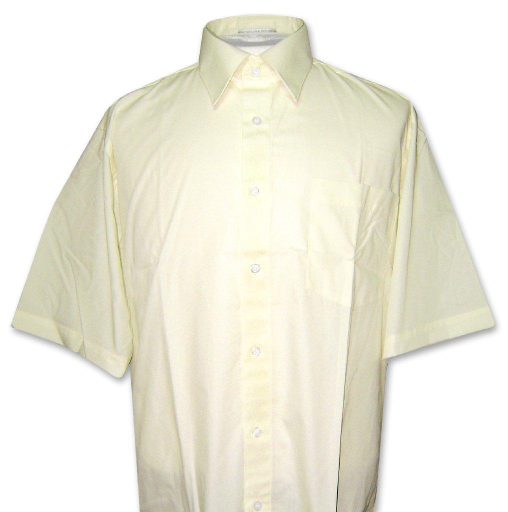 Covona Men's Short Sleeve YELLOW Limon Dress Shirt