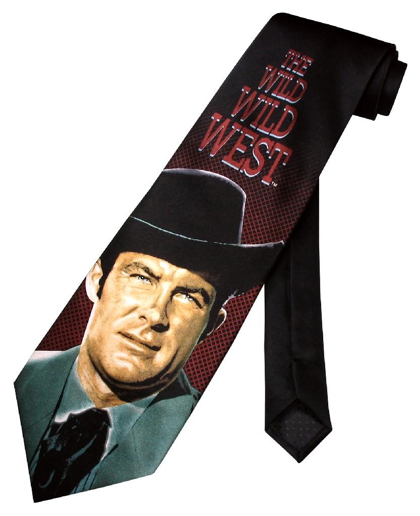 Wild Wild West SILK NeckTie Jim Robert Conrad Men's Neck Tie