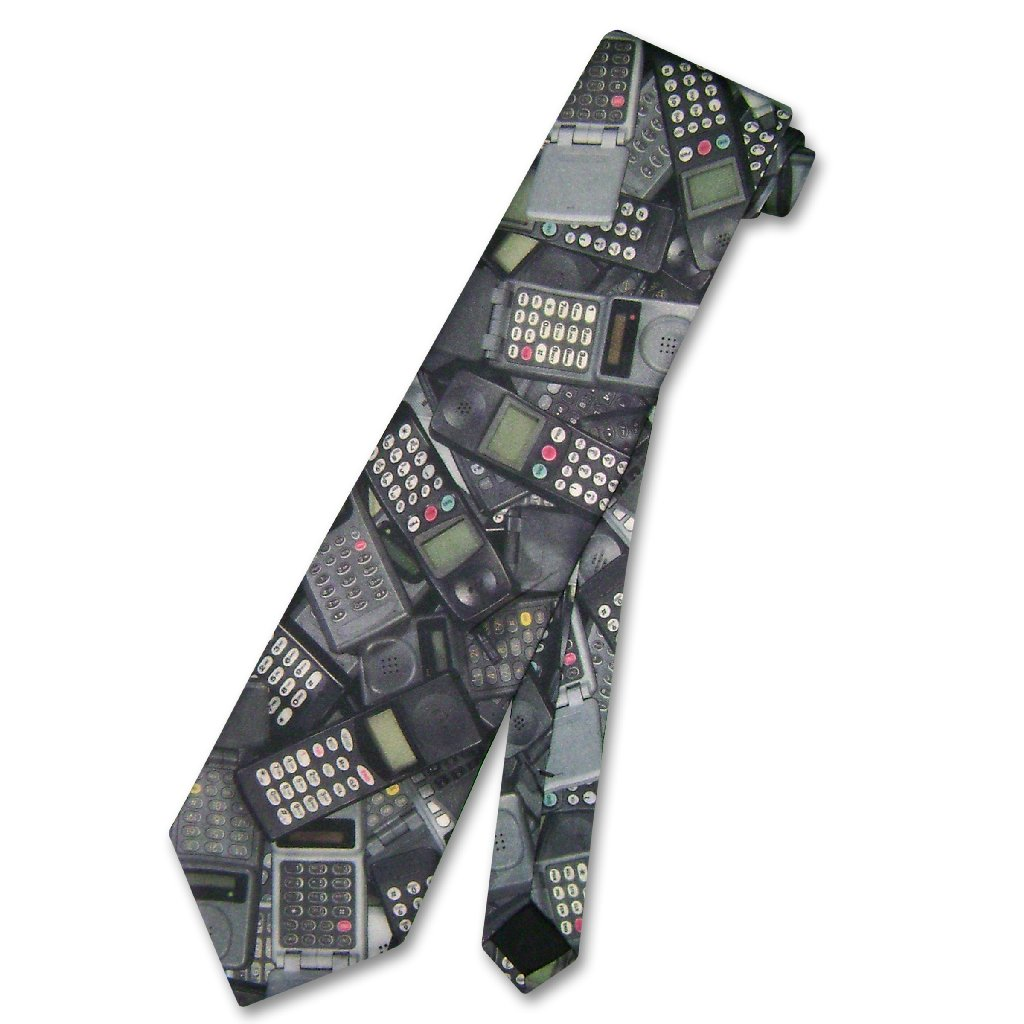 Ralph Marlin Cell Phones NeckTie Made in the USA Men's Ne...