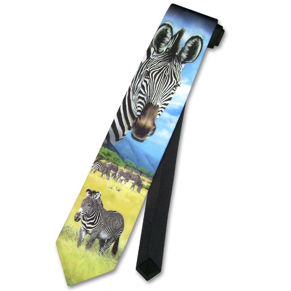 Ralph Marlin Zebras in Wild Neck Tie Made in USA Men's Ne...