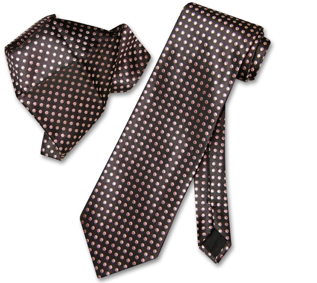 Antonio Ricci NeckTie Handkerchief Dark Brown w Pink Polka Dots Men's Tie Set at Sears.com