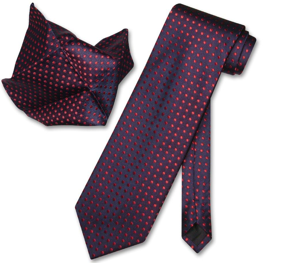 Antonio Ricci NeckTie Handkerchief Navy Blue w Red Polka Dots Men's Neck Tie Set at Sears.com