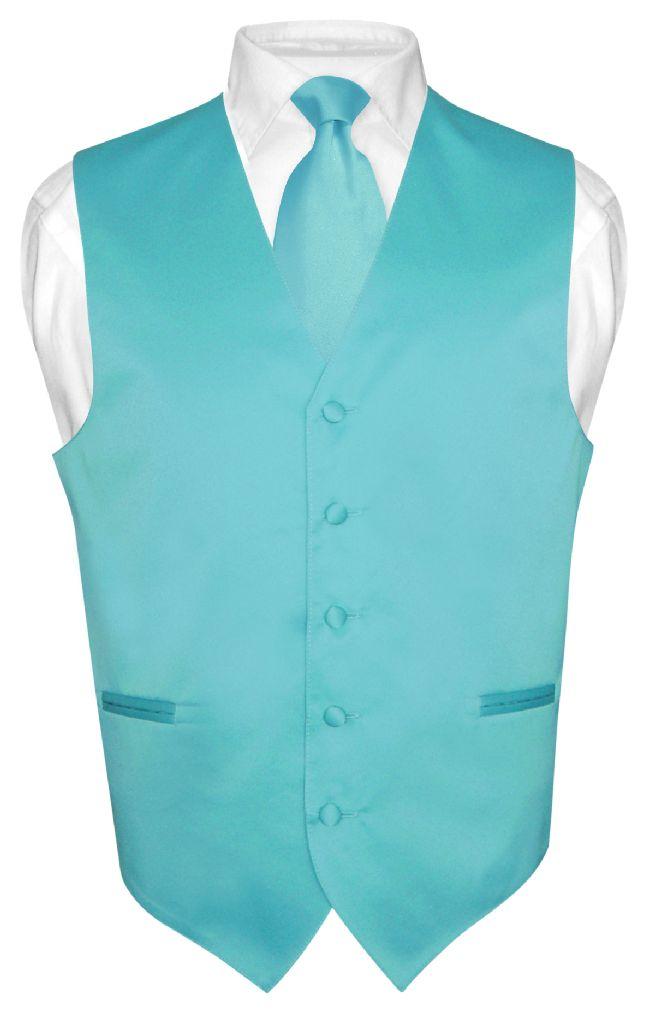 Vesuvio Napoli Men's TURQUOISE AQUA BLUE Tie Dress Vest and NeckTie Set for Suit or Tuxedo at Sears.com