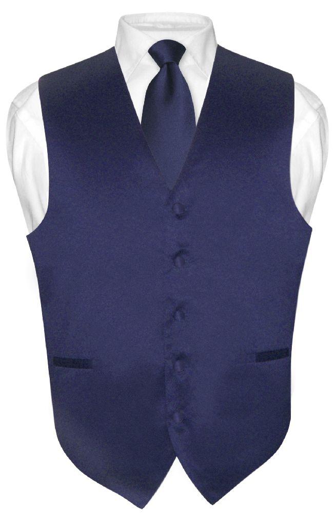 Vesuvio Napoli Men's NAVY BLUE Tie Dress Vest and NeckTie Set for Suit or Tuxedo at Sears.com