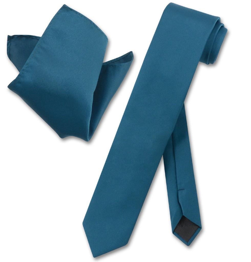"""Vesuvio Napoli Solid BLUE SAPPHIRE Color Skinny 2.5"""" Wide..."""