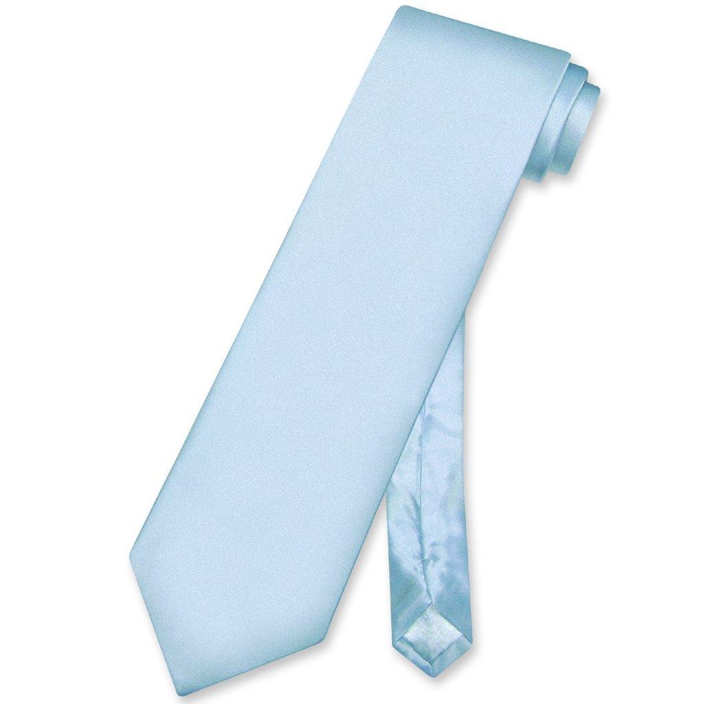 Biagio 100% SILK NeckTie EXTRA LONG Solid BABY BLUE Color...