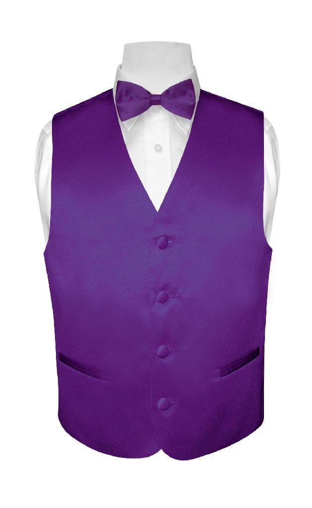 BOY'S Dress Vest & BOW TIE Solid PURPLE INDIGO Color Bow ...