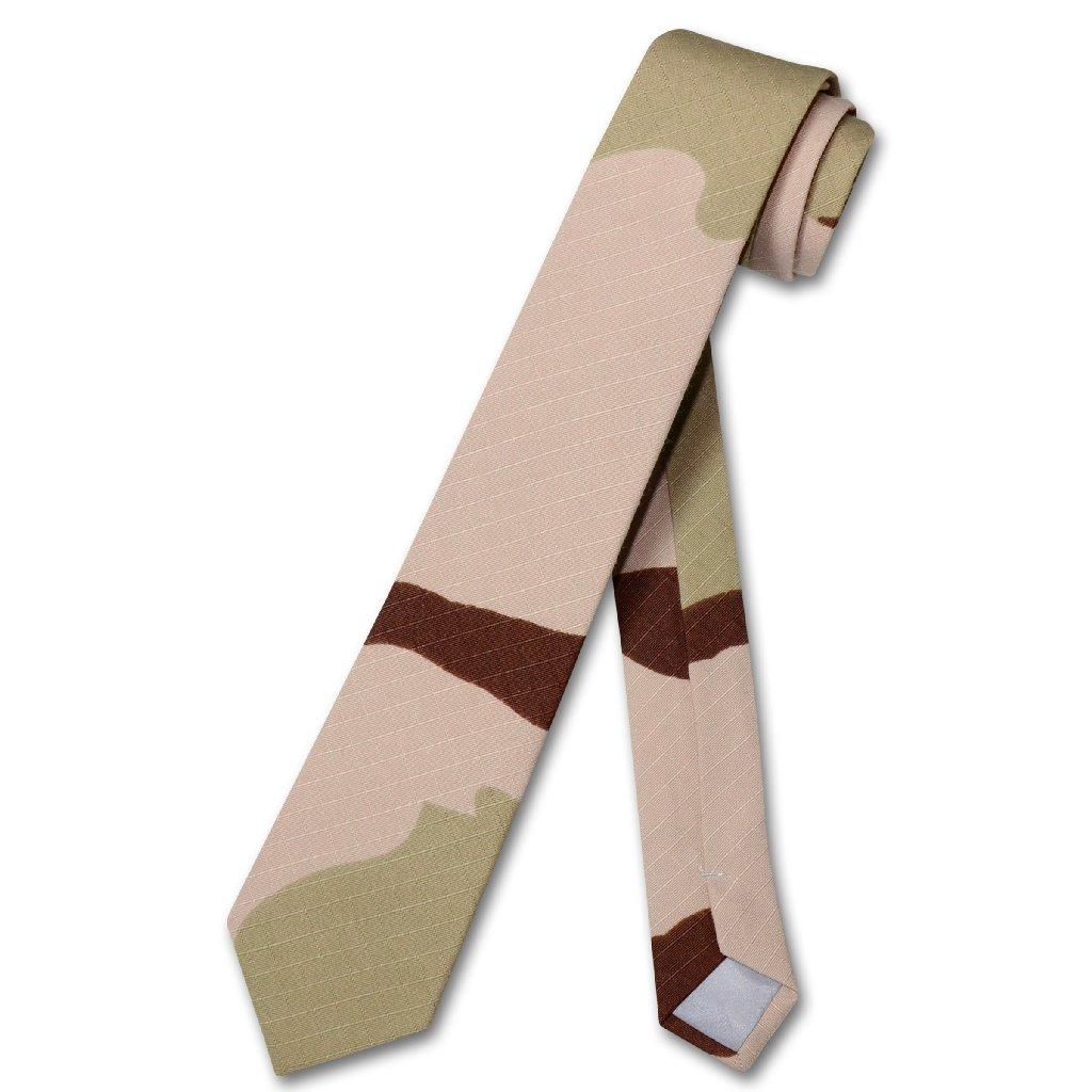 Covona Men's Beige Army Camouflage NeckTie Military Skinn...