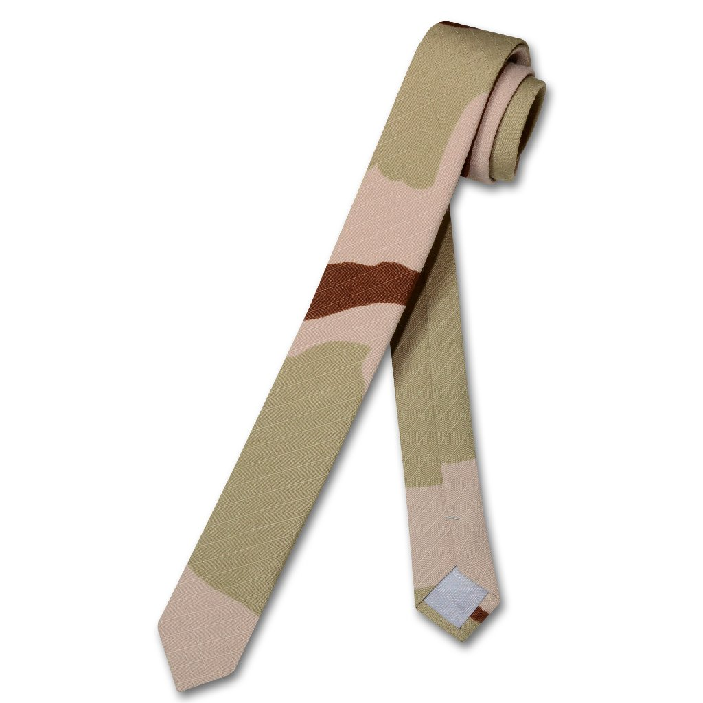 Covona Men's Beige Army Camouflage NeckTie Military EXTRA...