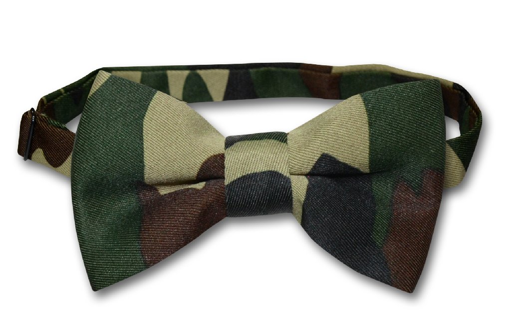 Covona Men's Green Army Camouflage BOWTie Military Men's ...