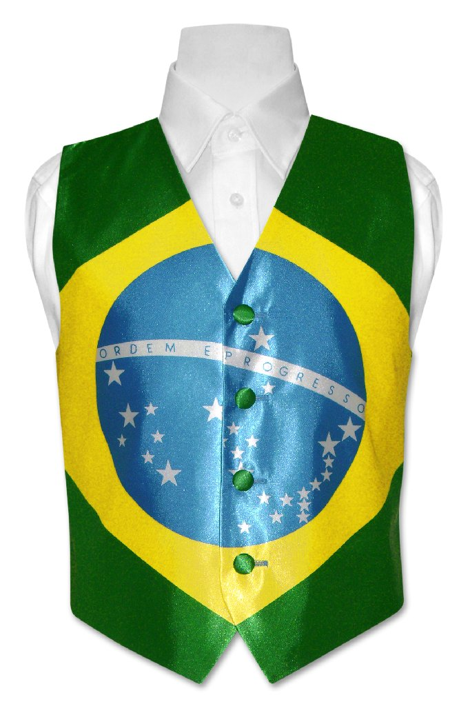 Covona Boy's Brazilian Flag Dress Vest size 12