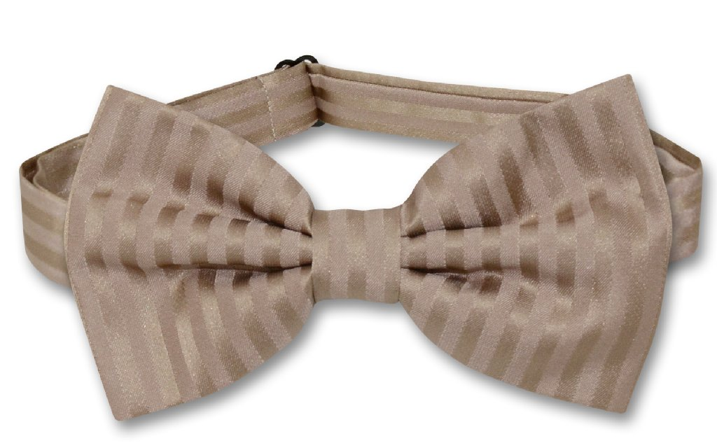 Vesuvio Napoli BOWTie MOCHA Light BROWN Color Vertical St...