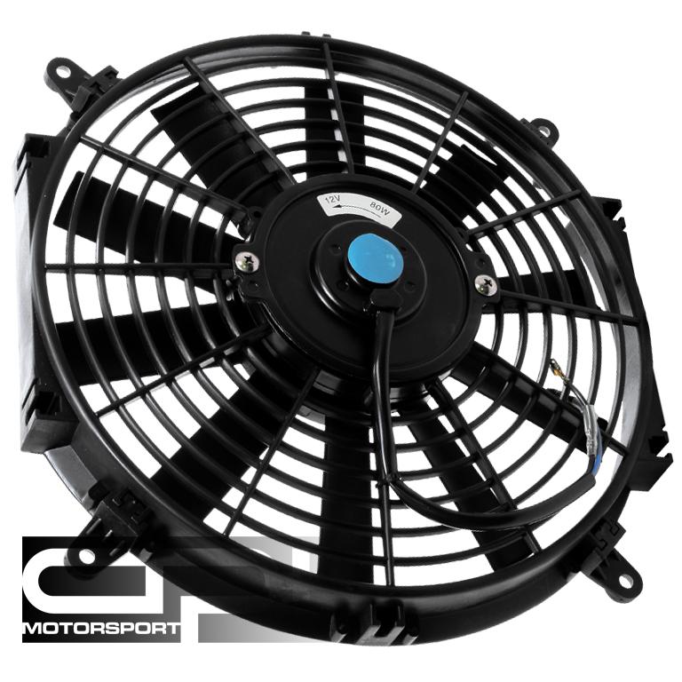 12 Volt Cooling Fans : Quot volt black slim electric cooling radiator fan ebay