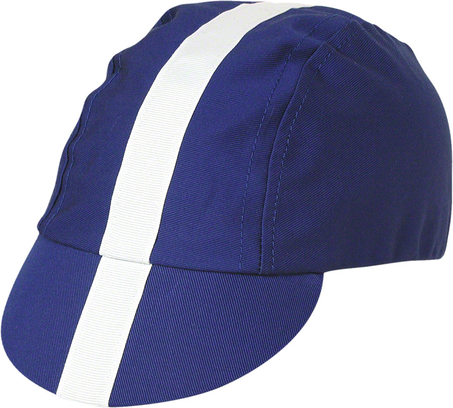 blue and white oakleys  cap: royal blue