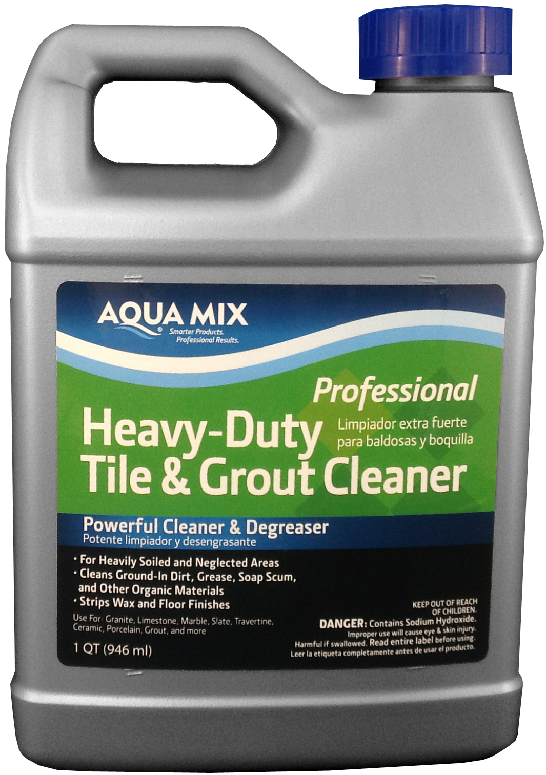 Aqua mix heavy duty tile and grout cleaner quart ebay for Alkaline concrete cleaner