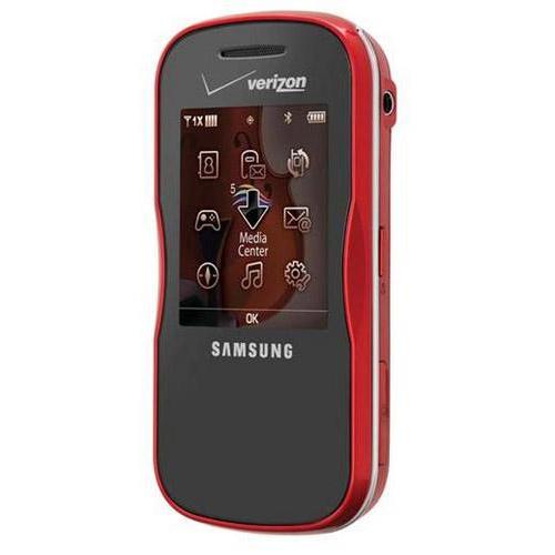 new samsung trance u490 red cell phone 490 for verizon ebay. Black Bedroom Furniture Sets. Home Design Ideas