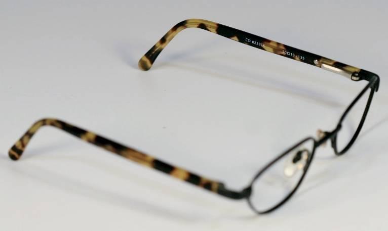 fossil caymen black metal tortoise plastic eyeglass frames