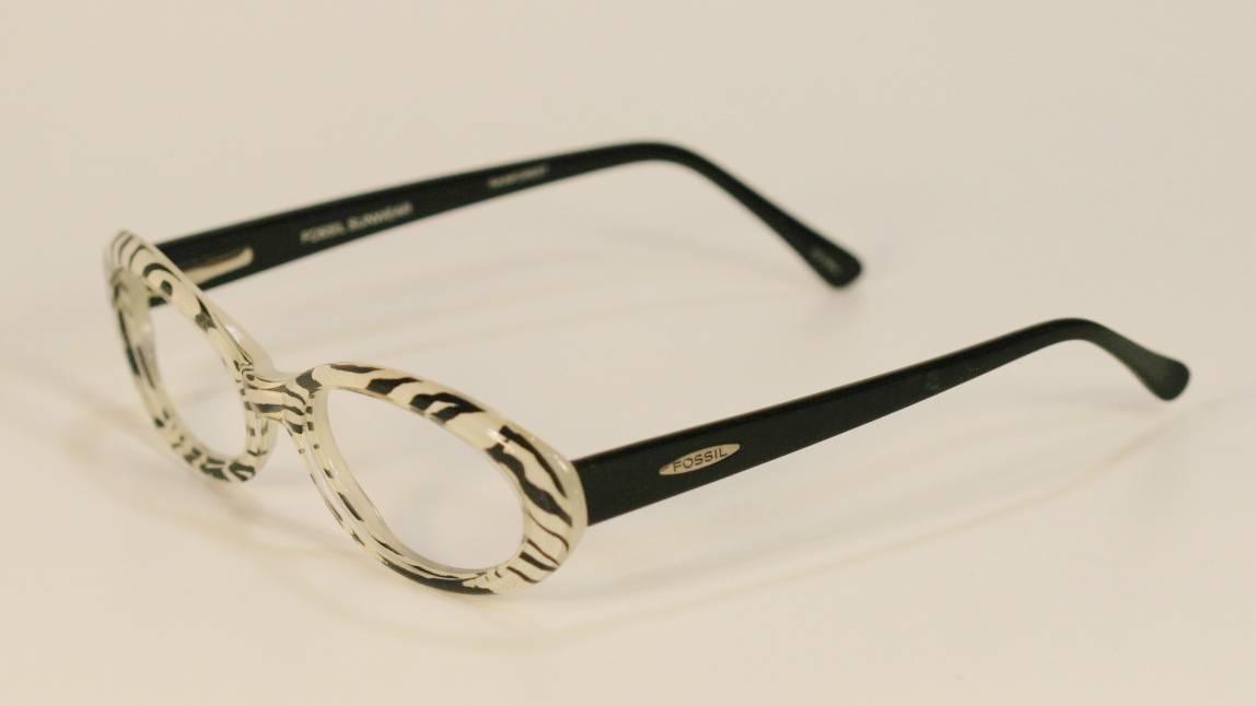 Fossil RAINFOREST Zebra Unisex Plastic Eyeglass Frames ...