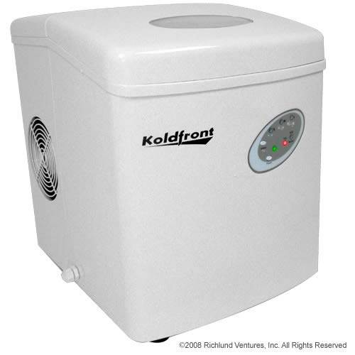Countertop Ice Machine With Water Line : ... about New KIM210W Koldfront Portable Countertop Ice Maker - White