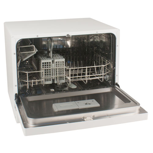 Countertop Dishwasher Hookup : New Countertop Portable Compact Dishwasher - White , 4 Place Setting ...