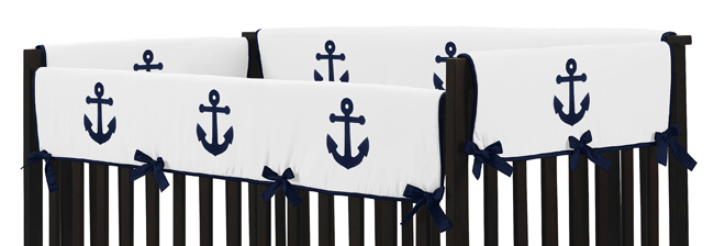 Sweet Jojo Design Navy Blue Hotel Nautical Boat Anchor