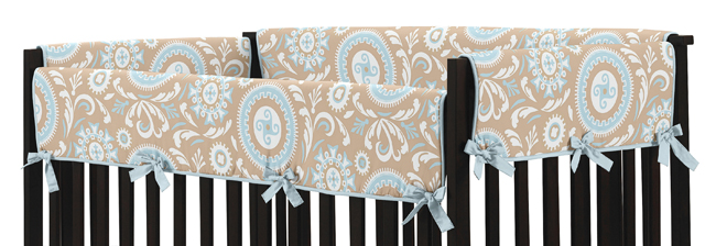 High End Baby Blue Taupe Brown Discount Unisex 9p Crib