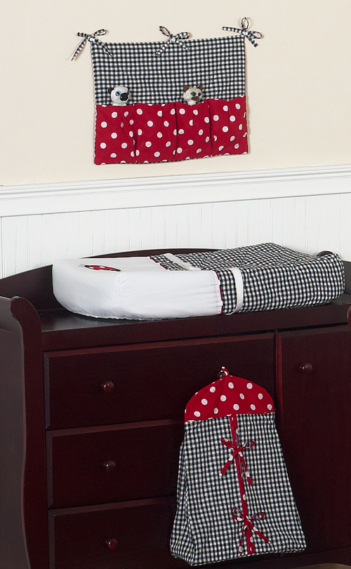 Sweet Jojo Designs Lady Bug Red Polka Dot Baby Girl Crib