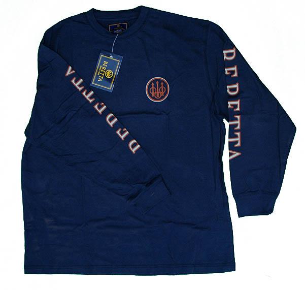 Beretta-Competition-Double-Logo-T-Shirt-Blue-Sizes-S-thru-3XL-TS71729458-New